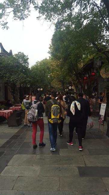 Walking down Jinli Street